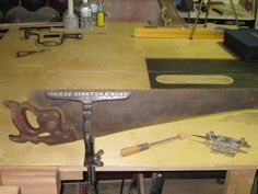 Sharpening a hand saw is an essential hand tool skill.