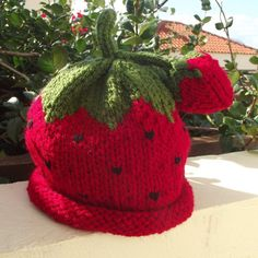 Adult Beanie Hat   Strawberry by Quintessentialcraftz on Etsy, €20.00