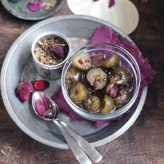 Preserved Figs with Spices and Rose Petals