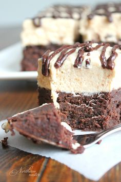 These Buckeye Brownies are the pinnacle of low-carb brownie recipes! The chewy, chocolaty base is worth eating all by itself, but the peanut butter cheesecake layer takes these brownies to an unprecedented level of awesomeness. A THM S. Keto-friendly.