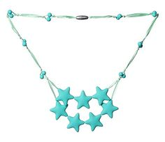 ComfyBaby Beads Falling Stars Silicone Teething Necklace BPA Free - Sea of Turquoise ComfyBaby Beads http://www.amazon.com/dp/B00YQL42IA/ref=cm_sw_r_pi_dp_FyK6vb1RQAG0A