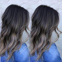 Image result for balayage dark brown hair