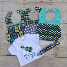 Guitar Baby Set Guitar Print Bibs Bodysuit and by TwoSewinCute
