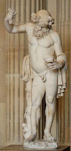 Silenus, Roman statue (marble), 2nd century AD, (Musée du Louvre, Paris).