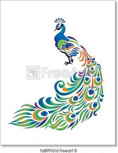 Peacock Illustrations and Clipart. peacock royalty free illustrations, drawings and graphics available to search from over 15 vector E. Free Art, Drawings, Creative, Bird Art Print, Peacock Drawing, Feather Drawing, Fabric Painting, Art, Clip Art