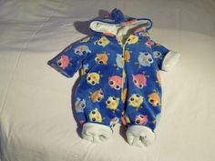 Overalls - Baby Overall, Microfaser m.Küken - ein Designerstück von Christa-Wilbert bei DaWanda