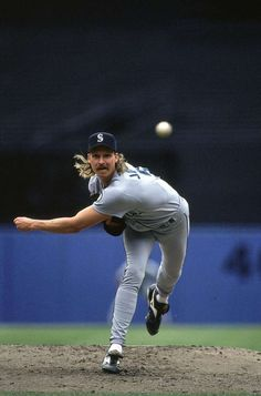 Randy Johnson... hard to decide whether his mullet or mustache was more noteworthy.