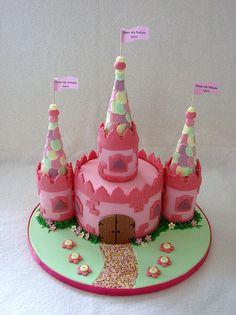 Beautiful Castle Cake