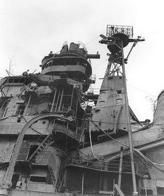 HIMJS Aoba 1945 by FrigateRN on Flickr.The bridge of the sunken Japanese cruiser HIMJS Aoba at Kure, Japan, in 1945.  M