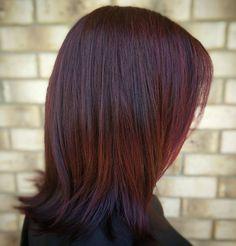 nice 50 Prepossessing Dark Red Hair Ideas - The Graceful Redhead Hairdos Check more at http://newaylook.com/best-dark-red-hair-ideas/