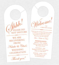 Wedding Door Hanger SET OF 10