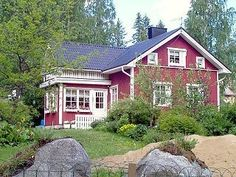 Nature and red house = beautiful combo!
