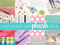 Sewing with Plush Fabric, like Cuddle and Minky | Sew4Home