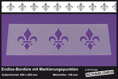 Schablone XL Bordüre Französische Lilie - LB29   von Lunatik-Style via dawanda.com