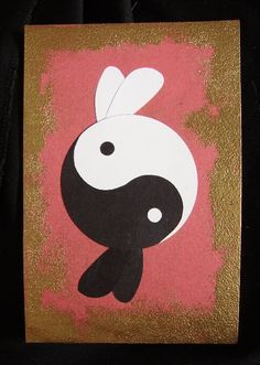Items similar to Ying-Yang Bunnies -Year of the Rabbit- 4 X 6 on Etsy Funny Bunnies, Baby Bunnies, Cute Bunny, Bunny Tattoos, Rabbit Tattoos, Rabbit Art, Bunny Rabbit, Tatuajes Yin Yang, Hase Tattoos