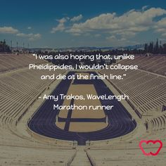 Luckily our first marathon runner made it to the end safe and sound. Read more about her race to Athen here.