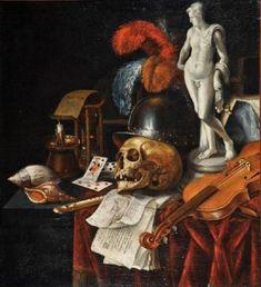 Vanitas Paintings, Oil Paintings, Memento Mori Art, Vanitas Vanitatum, Dance Of Death, Esoteric Art, Danse Macabre, Painting Still Life, Art Graphique