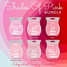 Shades of Pink bundle. 6 bars in various shades of pink. Buy 5 bars get your 6th for free. 6 bars for $30.