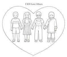 love your neighbor as yourself coloring pages Matthew 22:37-39