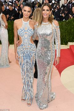 Fashionable friends: Kendall revealed Cindy Crawford (pictured together at the Met Gala in...