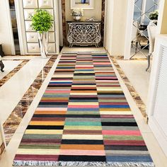 Woven, Table Cloth, Colours, Tapestry, Rugs, Hallway Rug, Long Runner Rugs, Contemporary Rug, Kilim Woven