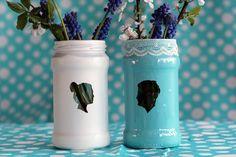 Transform Old Jam Jars Into Stunning Silhouette Vases - Envato Tuts+ Crafts & DIY Tutorial Jam Jar Crafts, Vase Crafts, Diy Crafts, Bottle Crafts, Wedding Vases, Diy Wedding, Wedding Crafts, Rustic Ceramics, Vase Design