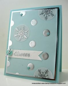 Love this card-great way to use the new Stampin' Up! Silver Foil Vellum and Silver Foil Paper!