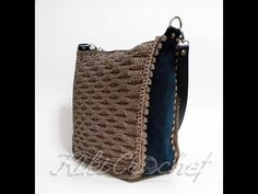 Crochet Bag with Almond Stitch - YouTube