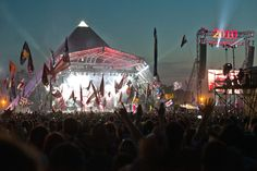 The Pyramid Stage at the Glastonbury Festival. Best Memories, Make Me Smile, Festivals, Photo Galleries, Stage, Digital, Concert, World, Gallery