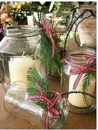 An inexpensive way to decorate for the holidays. ~ Vanessa pinned with Pinvolve