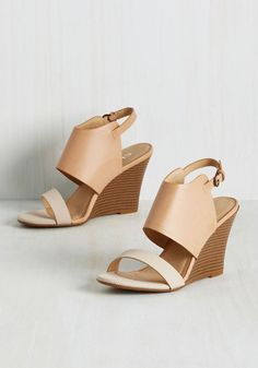 Ambitious Audition Wedge in Tan. Put your model behavior to the test by…