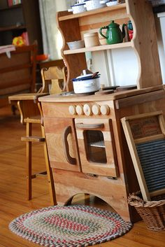 washboard in the kitchen area