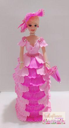 Bonecas Foam Sheet Crafts, Arts And Crafts, Diy Crafts, Foam Sheets, Diy Cake, Barbie Clothes, Nail Art Designs, Cake Decorating, Dolls