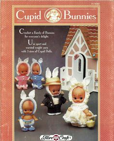 Cupids Bunnies  Doll Crochet Pattern Fibre Craft FCM282