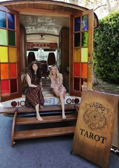 "The Bohemian Tarot Wagon of.... Erin Smith aka Vardo Tarot - From Moon to Moon - ""Vardo Tarot is a beautiful converted truck built by Tarot reader Erin Smith, after a flash of inspiration to read tarot full time and build this beautiful Gypsy style Tarot Wagon. Last spring, with the help of a carpenter friend, work began on the transformation of the truck..."""