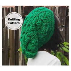 Excited to share this item from my #etsy shop: Slouchy Hat Pattern // Slouchy Beanie // Knitting Pattern // Lace Slouch // Slouchy Hat // Slouch hat // Slouch Hat Pattern // Elm Tree Hat