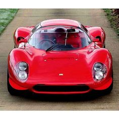 "The 1967 Ferrari 206 SP Dino. This Sport Prototype was a Mini-Me of the #Ferrari330 P3/P4.. Designer Drogo drew a very similar design to the gorgeous 330 #V12, but the SP's heart was a 2.0 V6.  The name ""Dino"" is a tribute from Enzo #Ferrari to his son Alfredino. It has been given to every V6 since 1956, when #Dino died while designing the engine as found in this beautiful #206 SP Great #picoftheday by @roadrunner333 #vintagesupercars #classicsportscar #retroracing"