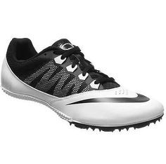 Nike Rival S 7 Track Spikes Sprint Mens 8 Womens 9.5 White Black Running Shoes