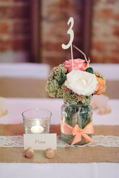Zsákvászon asztali futó - Esküvői Dekoráció