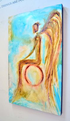 A patient onlooking angel quietly protects you and your family from the struggles of life in this acrylic portrait.  ANGEL PAINTINGS AND ANGEL ART    Visit our page at http://www.ivanguaderrama.com/ Buy Angel Art Prints   http://fineartamerica.com/profiles/ivan-guaderrama-art-gallery.html