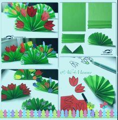Çiçek - Easy Crafts for All Preschool Crafts, Easter Crafts, Kids Crafts, Arts And Crafts, Spring Art, Spring Crafts, Paper Flower Backdrop, Paper Flowers, School Holiday Crafts