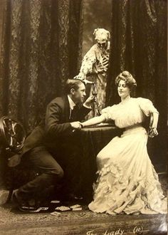 """From a play about the dangers of alcohol and cards, I guess. """"Death and the Lady"""""""