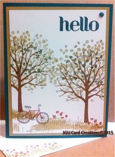 General sentiment card made during card class at PJ Cards using Sheltering Tree Stampin Up set