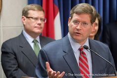 https://flic.kr/p/AZ8KoB | NCGA 2015 Budget Press Conference | Rep. Nelson Dollar, R-Wake, discusses ongoing budget negotiations during a press conference at the N.C. General Assembly on Aug. 27, 2015 as House Speaker Tim Moore, R-Cleveland, looks on. (Clifton Dowell | NCInsider.com)