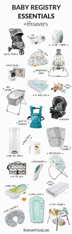The moms have spoken! These are the best baby registry must haves including all the baby registry essentials and lifesaver that you don't want to forget. The Mom Friend surveyed real moms to find out what baby gear and newborn necessities they love most Baby Registry Essentials, Best Baby Registry, Baby Registry Must Haves, Baby Registry Items, Baby Must Haves, Baby Items, Newborn Essentials, Mom And Baby, Baby Love