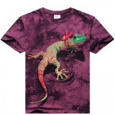 2015-Novelty-Summer-100-Cotton-Men-T-Shirt-3D-Personalized-Lizard-Animation-Short-Sleeve-3D-Printed-Creative-Casual-T-Shirt-0