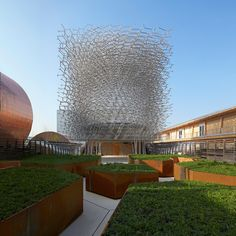 Nottingham-based artist Wolfgang Buttress teamed up with architectural practice BDP and engineering firm Stage One to build the pavilion for the World Expo 2015 in Milan