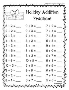I made this pack of addition worksheets for studen Math Practice Worksheets, Addition And Subtraction Worksheets, Printable Preschool Worksheets, Kindergarten Math Worksheets, Math Addition, Preschool Math, Addition Facts, Counting Worksheet, Math Groups
