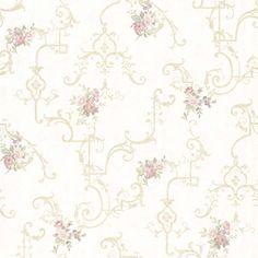 Vintage Rose englische Landhaus Satintapeten Rosen Gitter Art.-Nr.: 68308