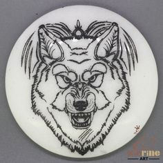 CHARMING FRIDGE MAGNET WOLF WALL DECOR DIY WHITE STONE ZR3000120 #ZL #FridgeMagnet